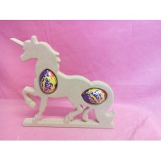 18mm MDF Unicorn cream egg holder 2 eggs